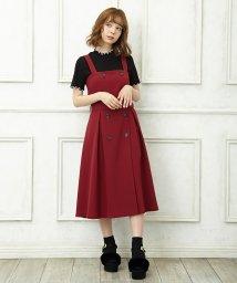 INGNI/トレンチ風フレアジャンパースカート/501175237