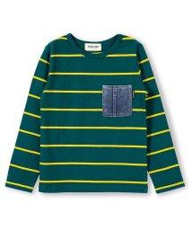 RADCHAP/デニムポケットボーダー柄長袖Tシャツ/501179955