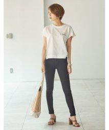 Re:EDIT/オーガニックコットン短丈Tシャツ/501181352