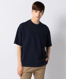 BLUE WORK/吊天竺 ビッグシルエット ポケットTシャツ/501181592