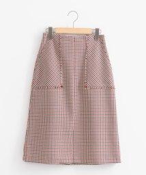 le.coeur blanc/フリンジポケットチェックタイトスカート/501055530