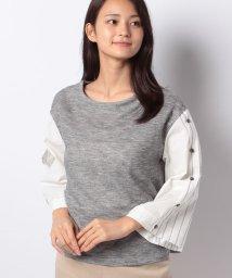 INTERPLANETSELECT/【TV】フェイクシャツ袖ボトルネックプルオーバー/501169458
