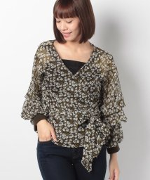 actuelselect/【GHOSPELL】Floral Knit Rib Top/501170243