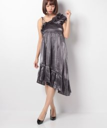 actuelselect/【GHOSPELL】Gunmetal Off Shoulder Dress/501170259