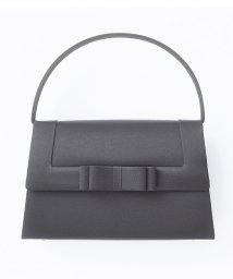 MICHEL KLEIN Noire/リボンデザインフォーマルバッグ/501170815