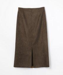 Ballsey/ボンディングフェイクスエード Iラインスカート/501181703