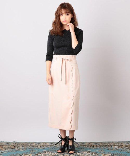 MIIA(ミーア)/ハイウエストスカラップタイトスカート/32831216