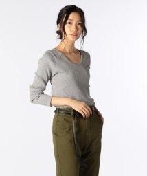 NOLLEY'S/リブUネックTシャツ/501175593