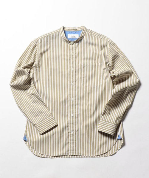 NOLLEY'S goodman(ノーリーズグッドマン)/バンドカラーシャツ/8-0086-5-71-003