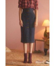 PROPORTION BODY DRESSING/《EDIT COLOGNE》フロントボタンデニムスカート/501181810
