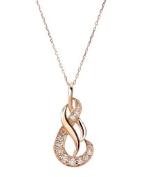 JEWELRY SELECTION/存在感を主張する贅沢なダイヤモンドジュエリー★K18ゴールド 天然ダイヤモンド 計0.2ct デザイン ネックレス【K18PG ピンクゴールド】/501183063