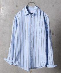 SHIPS JET BLUE/SHIPS  JET BLUE: ワイドストライプ レギュラーカラーシャツ/501183850