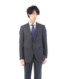 TAKA-Q/ウィンドペーンネイビー2ピーススーツY体/501184318