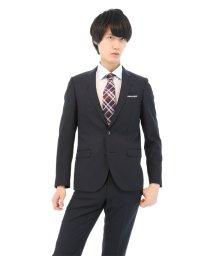 TAKA-Q/シャドーストライプネイビー2ピーススーツA体/501184324