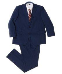 GRAND-BACK/【大きいサイズ】紺ストライプ1タック2ピーススーツ/501184330