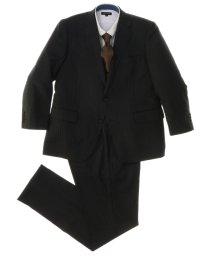 GRAND-BACK/【大きいサイズ】グレーストライプ1タック2ピーススーツ/501184331