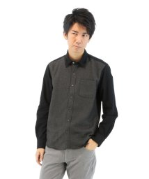 TAKA-Q/起毛ツイルフロント切替えレギュラーカラーシャツ/501184371
