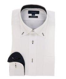 TAKA-Q/形態安定(ノーアイロン)レギュラーフィットドゥエボットー二エダブルピンステッチビジネスドレスシャツ/501184487