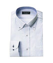 a.v.v homme/a.v.v HOMME 長袖 クレリックストッパーワイドカラーマイターカラーボタンダウンワイシャツ/501184723