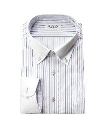 a.v.v homme/a.v.v HOMME 長袖 クレリックワイドカラーレギュラーカラーショートカラーボタンダウンワイシャツ/501184724