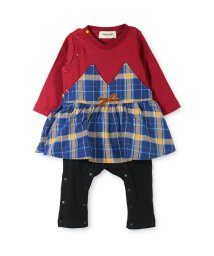 RADCHAP/チェック柄ビスチェ風長袖カバーオール/501185080