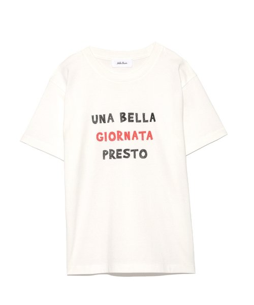 Mila Owen(ミラオーウェン)/3段ロゴTシャツ/09WCT184181