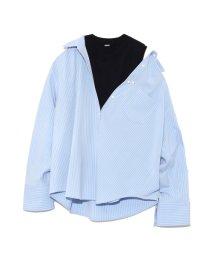 Mila Owen/ニットタンクトップ付レイヤードシャツ/501186098