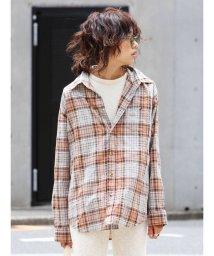 Ungrid/リネン混ルーズチェックシャツ/501100592