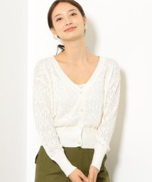 green label relaxing/NFC ブークレ スカシガラ カーディガン/501158147