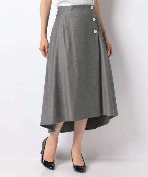 LAPINE BLEUE(ラピーヌ ブルー)/【洗える】ラップ風セミフレアースカート/239496