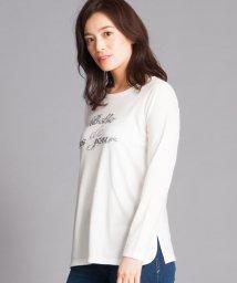 Leilian PLUS HOUSE/スパンコール×ロゴTシャツ/501144919