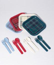 Afternoon Tea LIVING/タータンチェック柄角型3段ランチボックスL用食器セット/501172092