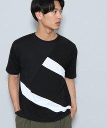 JUNRed/タッククレイジー切替Tシャツ/501178287