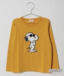 koe kids/スヌーピーもこもこアップリケ付長袖Tシャツ/501182636