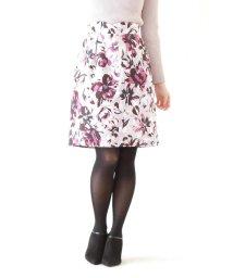 PROPORTION BODY DRESSING/フラワーカット ジャガードタイトコクーンスカート/501194641
