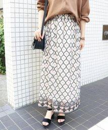 SLOBE IENA/チュール刺繍ロングスカート/501194902