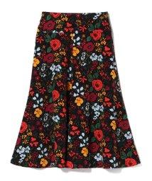 Demi-Luxe BEAMS/Demi-Luxe BEAMS / フラワープリント フレアスカート/501057576