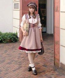 axes femme/バックデザインサス付スカート/501181523