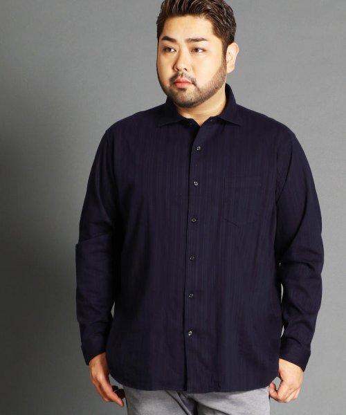 HIDEAWAYS NICOLE L(ハイダウェイニコル(大きいサイズ))/<大きいサイズ>ストライプホリゾンタルカ/8404-8000