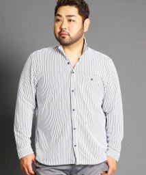 HIDEAWAYS NICOLE L/<大きいサイズ>イタリアンカラー長袖カッ/501162636