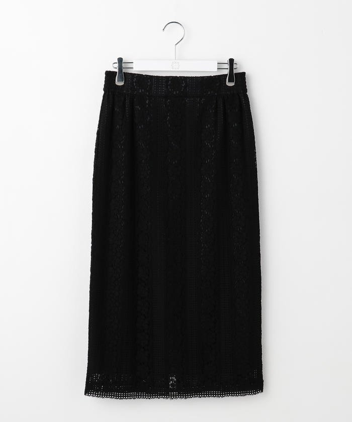 NOLLEY'S リバーレースハイウエストタイトスカート