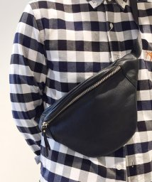 GLOSTER/Leather fanny pack bag/501192151