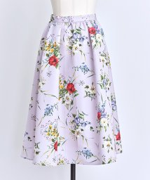 Noela/【美人百花10月号掲載】カラーブレンドフラワーフレアスカート/501195225