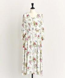 Noela/カラーブレンドフラワー柄ロングワンピ/501195229