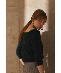 PROPORTION BODY DRESSING/《BLANCHIC》バックカシュクールニット/501197210