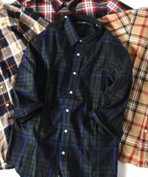 SHIPS MEN/SU: ビッグ チェック レギュラーカラー 7スリーブシャツ/501198062