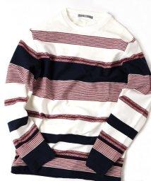 SHIPS MEN/SU: 梨地 ボーダー ロングスリーブ Tシャツ/501198065