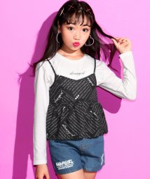ANAP GiRL/オリジナル英字キャミTシャツセット/501185506