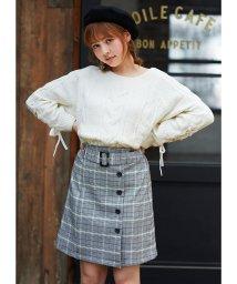 INGNI/サイド釦チェック柄/台形スカート/501191517