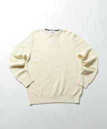NOLLEY'S goodman/タック柄クルーネックニットソー/501192131